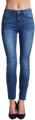 Unpublished Mid-Rise Side Snap Skinny Jeans