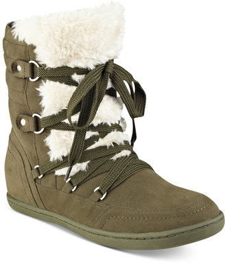 G by GUESS Ryla Faux-Fur-Trim Booties $69 thestylecure.com