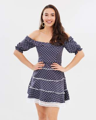 Bardot Spotty Lace Dress