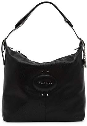 Longchamp Quadri Leather Hobo Bag