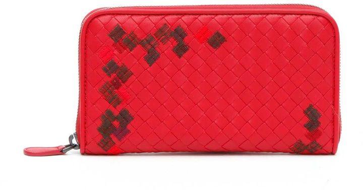 Bottega VenetaBottega Veneta Zip Around Wallet 'armerina' Embroidery