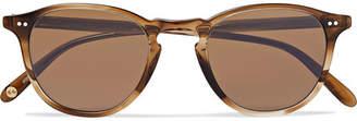 Garrett Leight California Optical Hampton 46 Round-Frame Tortoiseshell Acetate Polarised Sunglasses