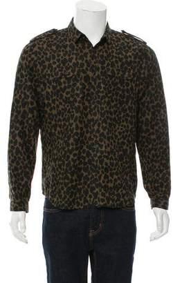 Burberry Animal Print Button-Up Shirt