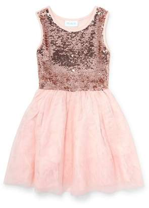 Children's Place The Reversible Flip Sequin Tulle Holiday Dress (Little Girls & Big Girls)