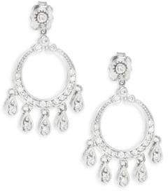 Effy Diamond & 14K White Gold Drop Earrings