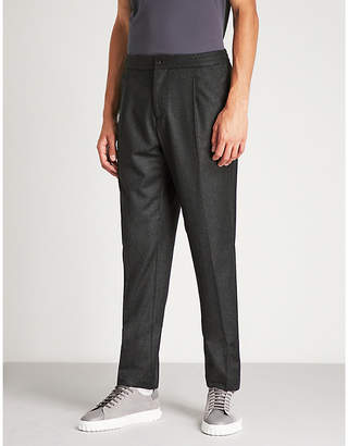 Salvatore Ferragamo Regular-fit straight wool trousers