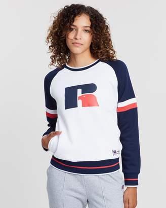 Russell Athletic Raglan Stripe Crew Sweatshirt