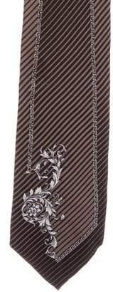 Gianni Versace Striped Silk Tie