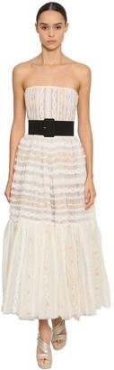 Ingie Paris OFF THE SHOULDER TULLE & LACE DRESS