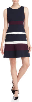 Tommy Hilfiger Stripe Fit & Flare Dress