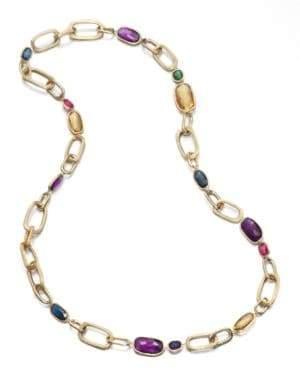 Marco Bicego Murano Semi-Precious Multi-Stone & 18K Yellow Gold Link Necklace