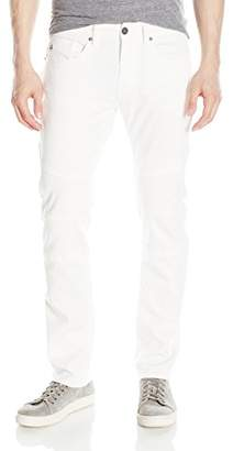 Buffalo David Bitton Men's Ash Skinny Fit Fashion Jean in a White Simple Rinse Wash
