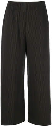 Issey Miyake cropped ribbed trousers
