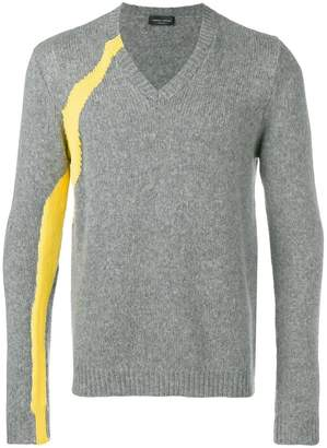 Roberto Collina side stripe sweater