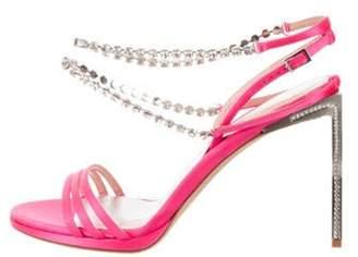 Ballin Alchimia Di 2019 Embellished Satin Sandals Pink Alchimia Di 2019 Embellished Satin Sandals