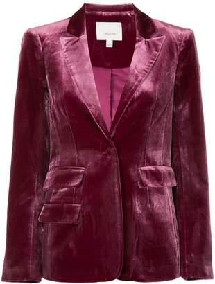 Cinq à Sept single-breasted velvet blazer