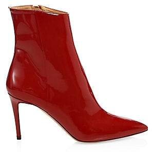 Aquazzura Women's Alma Patent Leather Booties