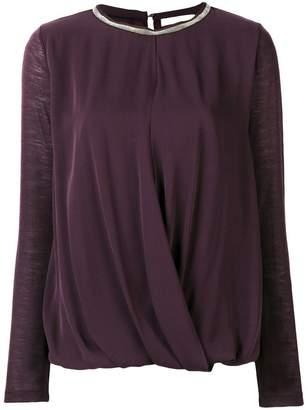 Fabiana Filippi long-sleeve draped top