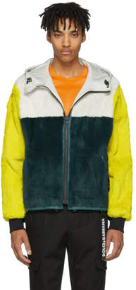 Yves Salomon Reversible Yellow and Green Vapor Jacket