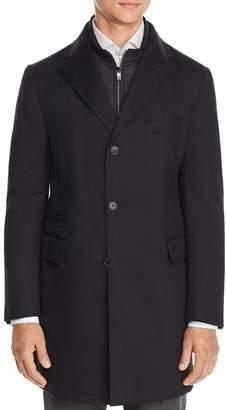 Corneliani Wool Twill Raincoat with Bib