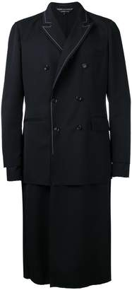 Comme des Garcons layered double-breasted coat