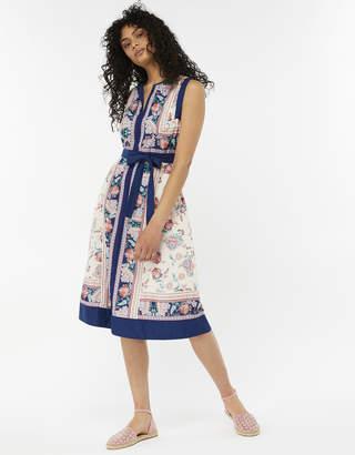 Monsoon Clare Pure Cotton Print Dress