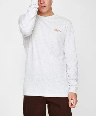 rhythm Tailored Long Sleeve Tshirt White Marle
