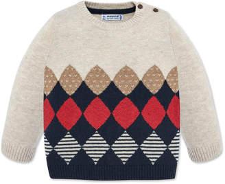 Mayoral Boy's Mixed Diamond Pattern Knit Sweater, Size 12-36 Months