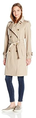 Jones New York Women's Extended Length Double Breasted Classic Belted Trench Jacket $78.40 thestylecure.com