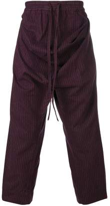 Vivienne Westwood striped baggy front trousers