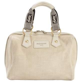 Saint Laurent Ecru Cloth Handbag