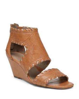 Donald J Pliner Sami Caged Leather Wedge Sandals