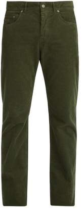 Bottega Veneta Straight Leg Corduroy Trousers - Mens - Green