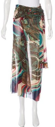 Jean Paul Gaultier Printed Wrap Skirt $130 thestylecure.com