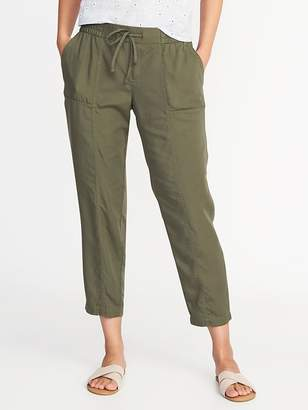 Old Navy Mid-Rise Tencel® Soft Utility Pants for Women