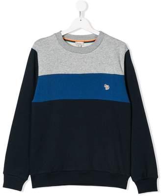 Paul Smith TEEN colour-block sweatshirt