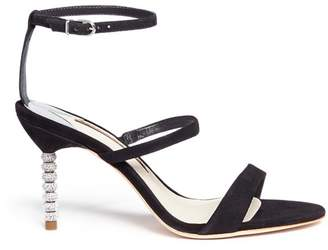 Sophia Webster 'Rosalind' crystal pavé bead heel suede sandals