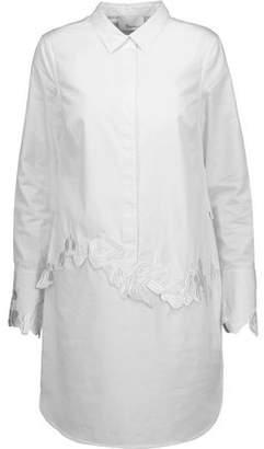 3.1 Phillip Lim Embroidered Cotton-Poplin Mini Shirt Dress