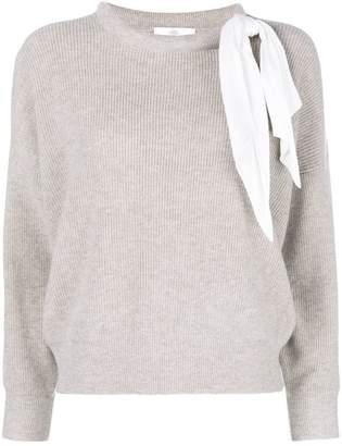 Allude tie scarf detail jumper