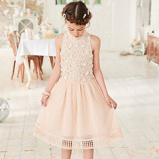 River Island Girls pink embellished flower girls dress
