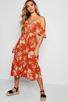0bb22277966 boohoo Orange Maxi Day Dresses - ShopStyle UK