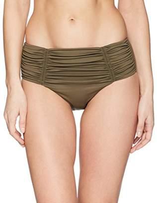 Seafolly Women's Gathered Front Retro Full Coverage Bikini Bottom Swimsuit,6 US