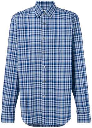 Brioni plaid print shirt
