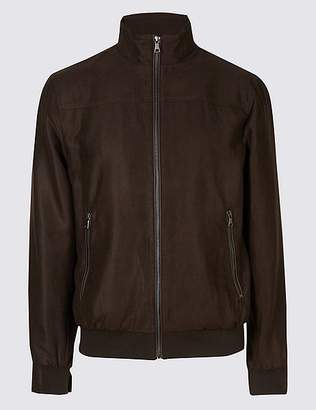 Marks and Spencer Faux Suede Bomber Jacket
