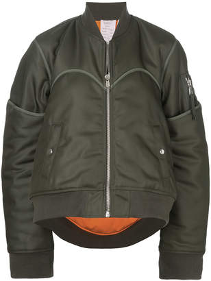 Helmut Lang piped trim bomber jacket