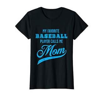 Womens My Favorite Baseball Player Calls Me Mom T-Shirt