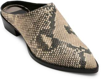 Dolce Vita Aven Snakeskin-Textured Leather Mules
