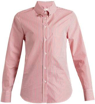 Golden Goose Janice point-collar striped cotton shirt