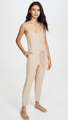 Enza Costa Linen Strappy Jumpsuit
