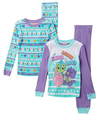 SGI Apparel Hatchimals Cotton PJs - Set of 2 (Toddler Girls)